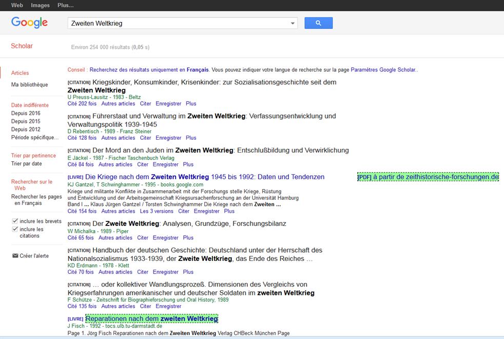 google scholar livre gratuit