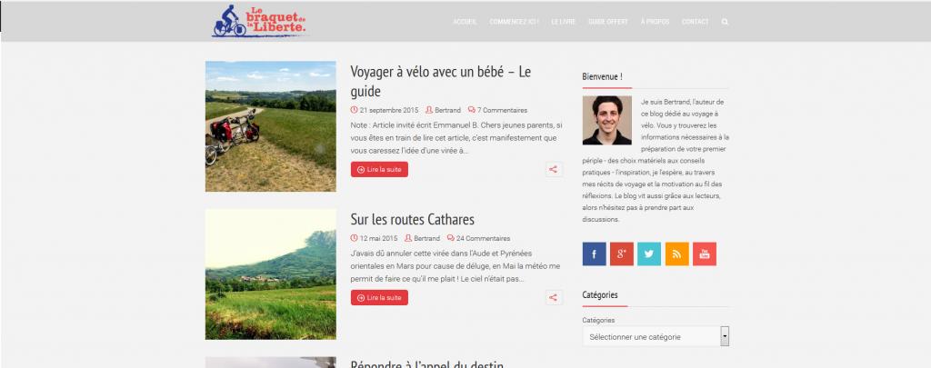 blog voyages en vélo