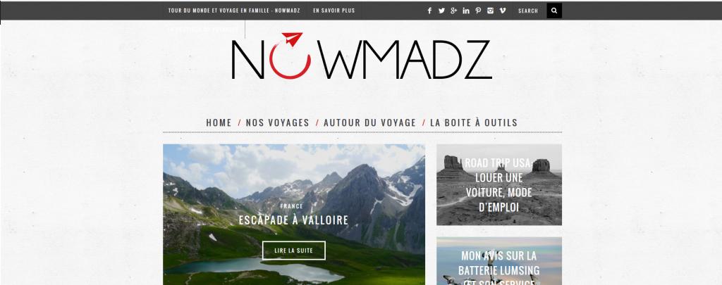 nomadz site de voyage