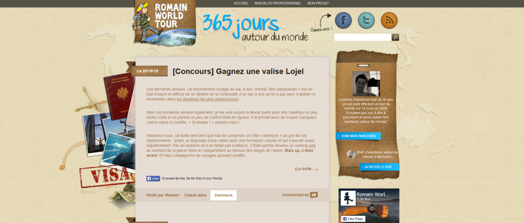 romainworldtour blog voyage