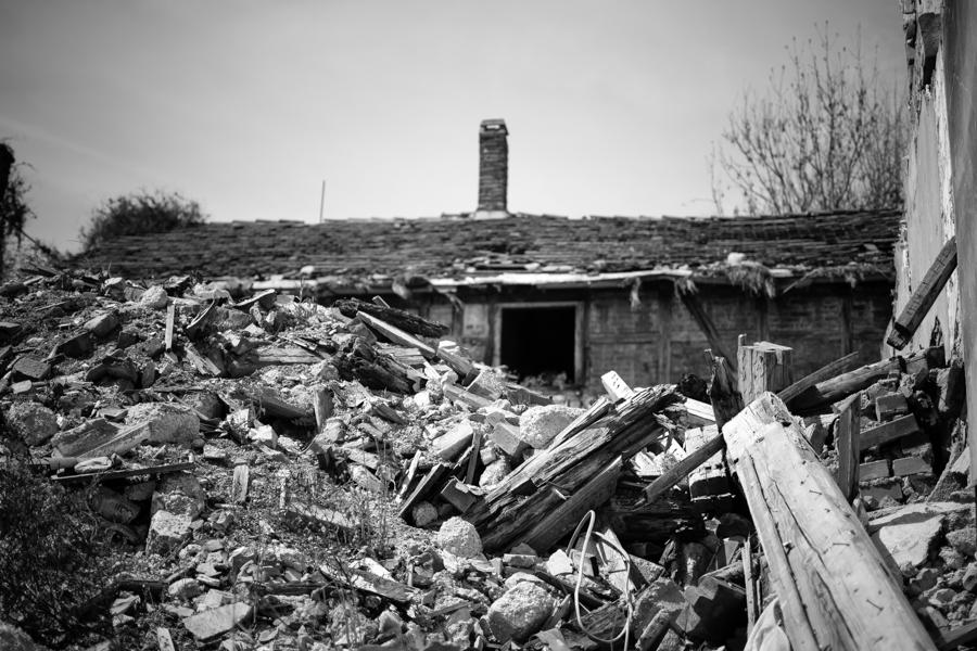 Maison détruite à Gotha -Thuringe