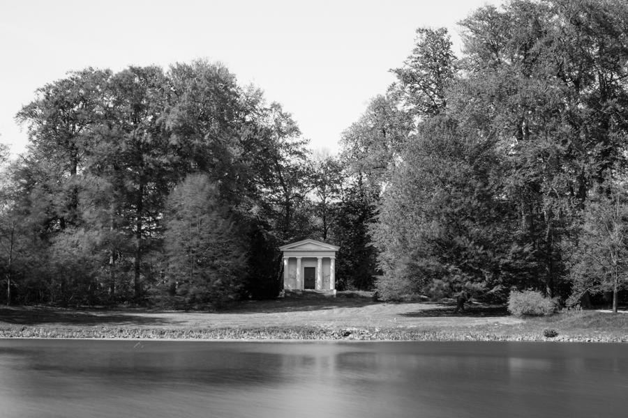 le parc de Gotha en noir et blanc