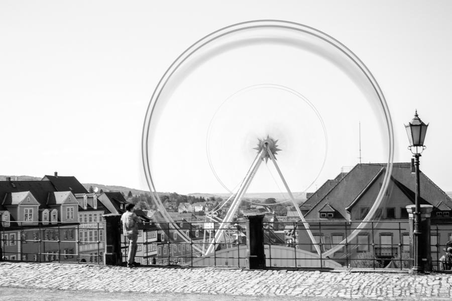 la grande roue à Gotha en Thuringe
