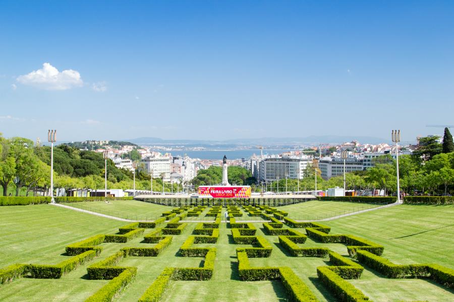 panorama du parc  Eduardo VII à Lisbonne