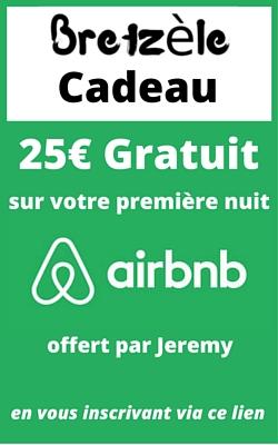 25€ gratuit Airbnb