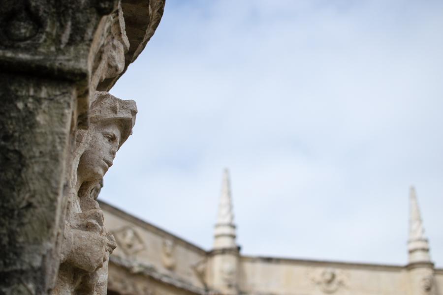 detail architecture dans le Monastère de Jeronimos