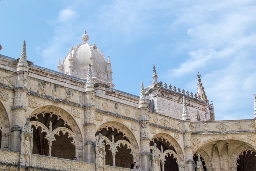 le cloitre du monastère de Lisbonne