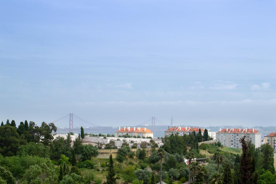 vue du parc aux moulin de Belèm
