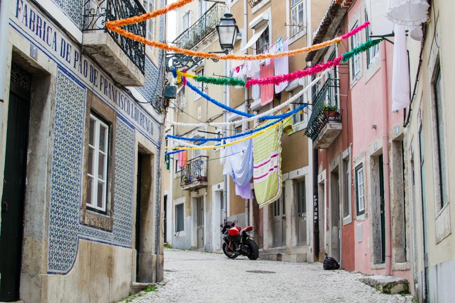 rue dans le quartier de Lapa à Lisbonne