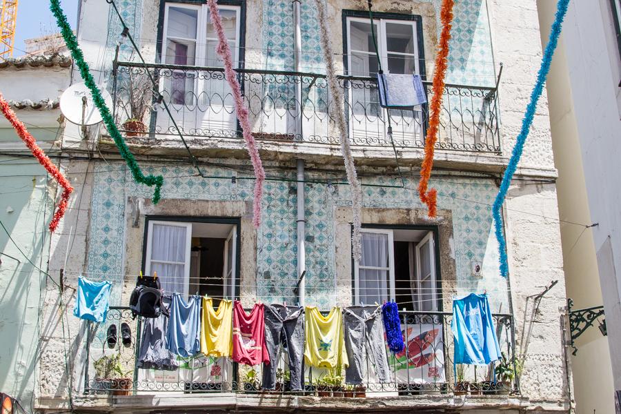 maison dans le quartier d'Alfama à Lisbonne
