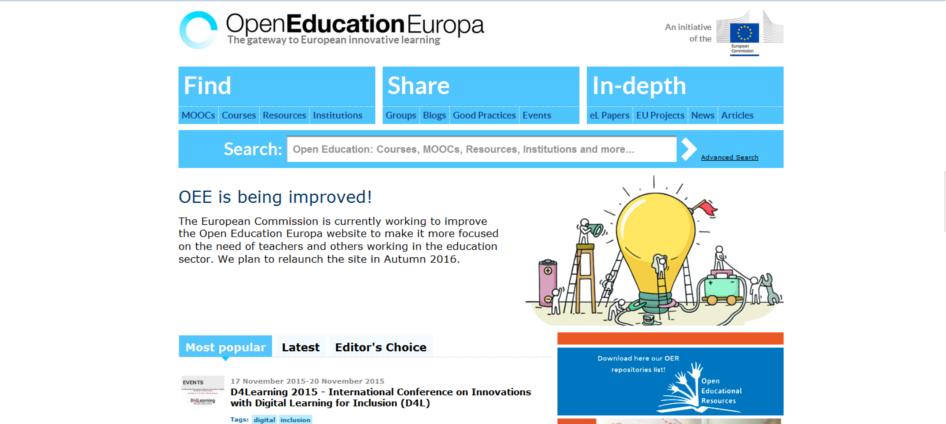 open education europa, les mooc de l'union européenne