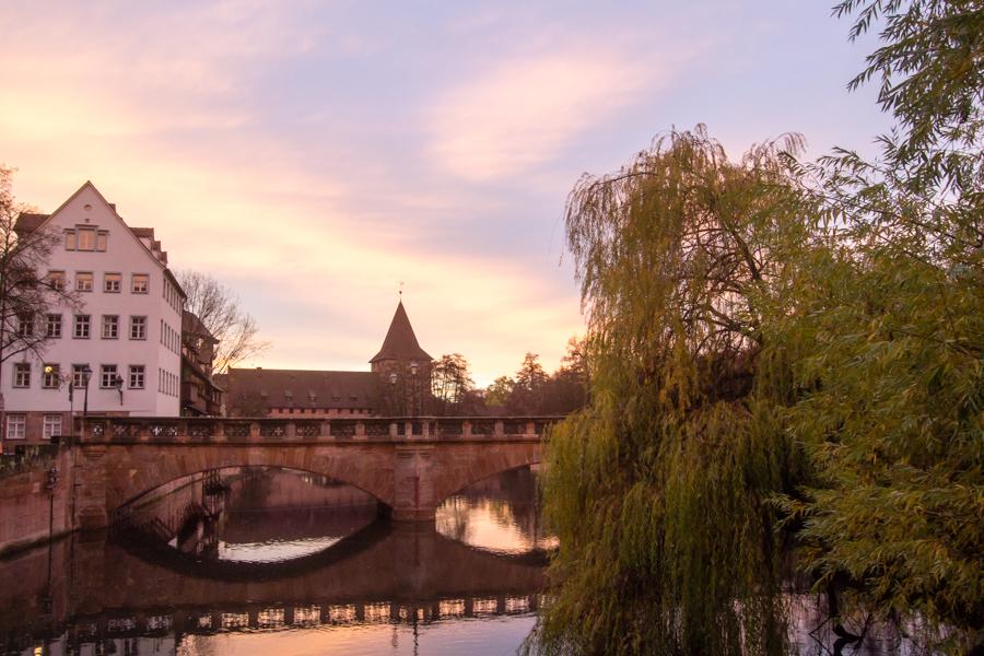 couché de soleil sur Nuremberg