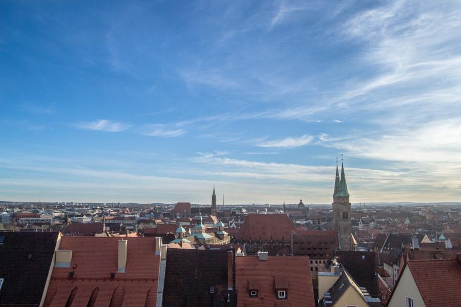 vue du chateau de Nuremberg