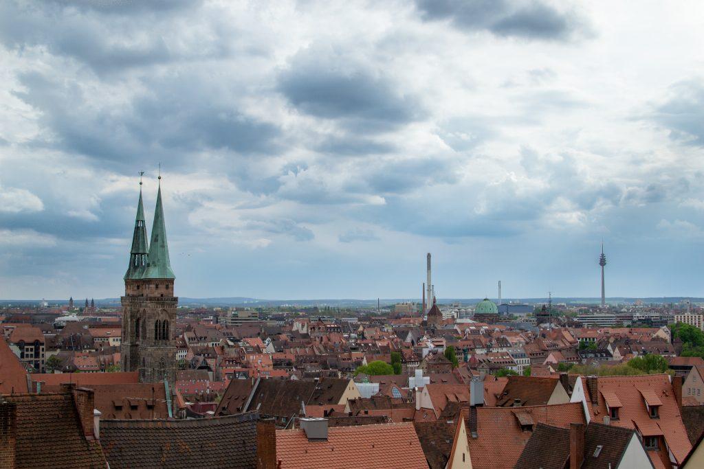 en haut du Schloss à nuremberg