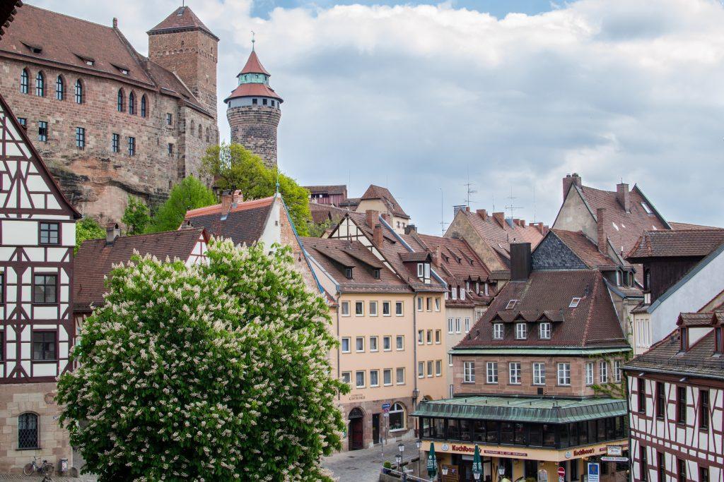 En dessous du chateau de Nuremberg