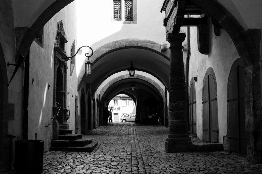 Rothenburg en noir et blanc