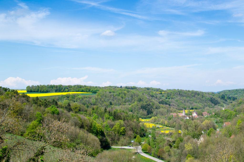 la vallée autour de Rothenburg Bavière