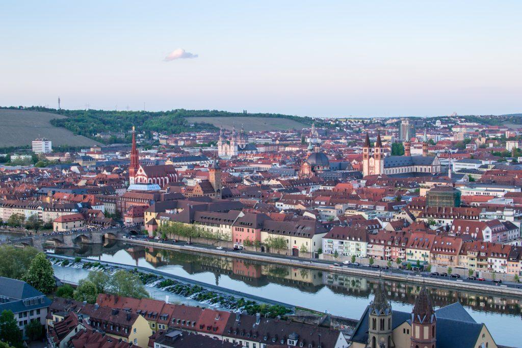 Würzburg vue du chateau de marienberg