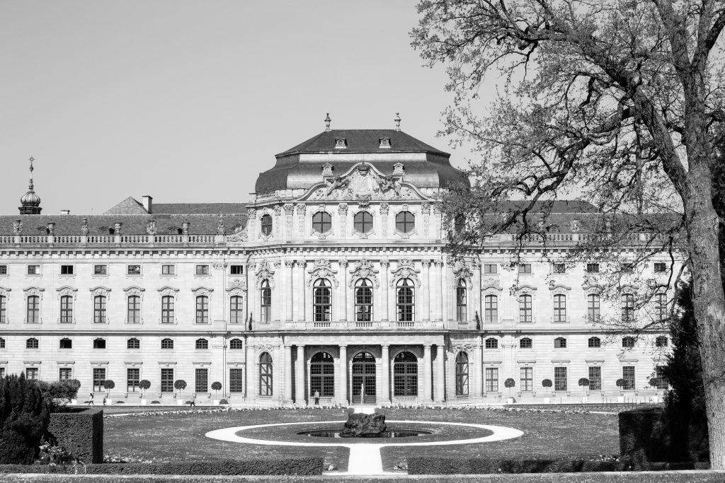 vue arrière du palais de wurzbourg