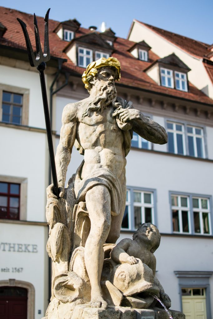 Statue de posseidon à Weimar