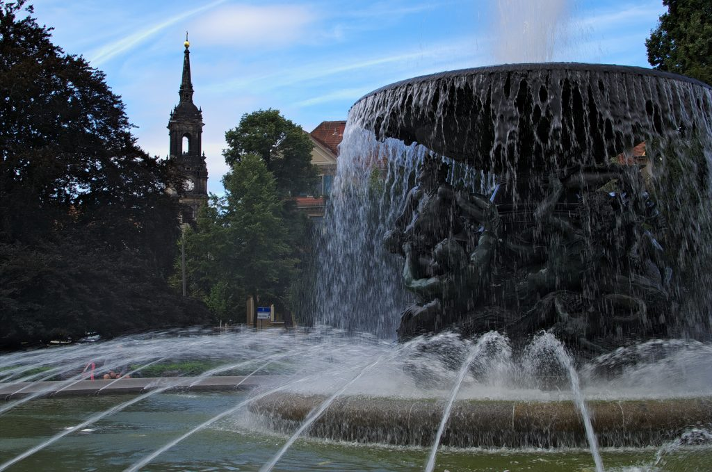 fontaine à dresden en Allemagne