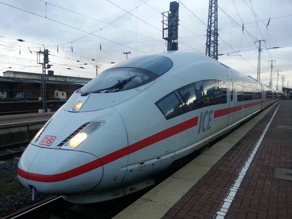 un train ICE en Allemagne