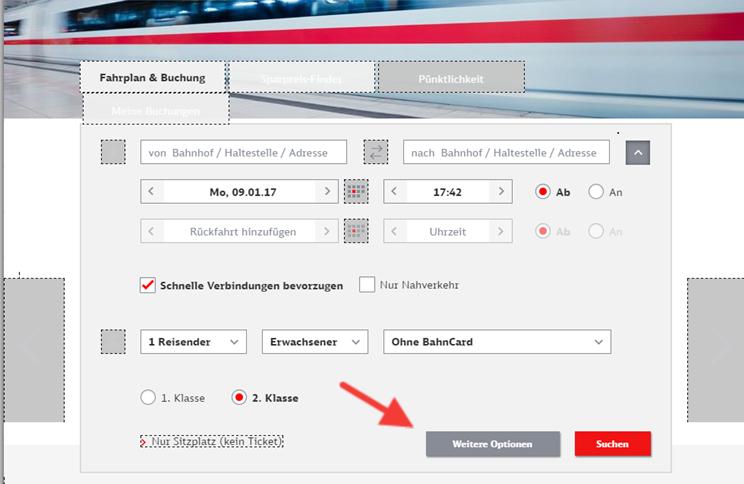 accueil site de la deutsche Bahn