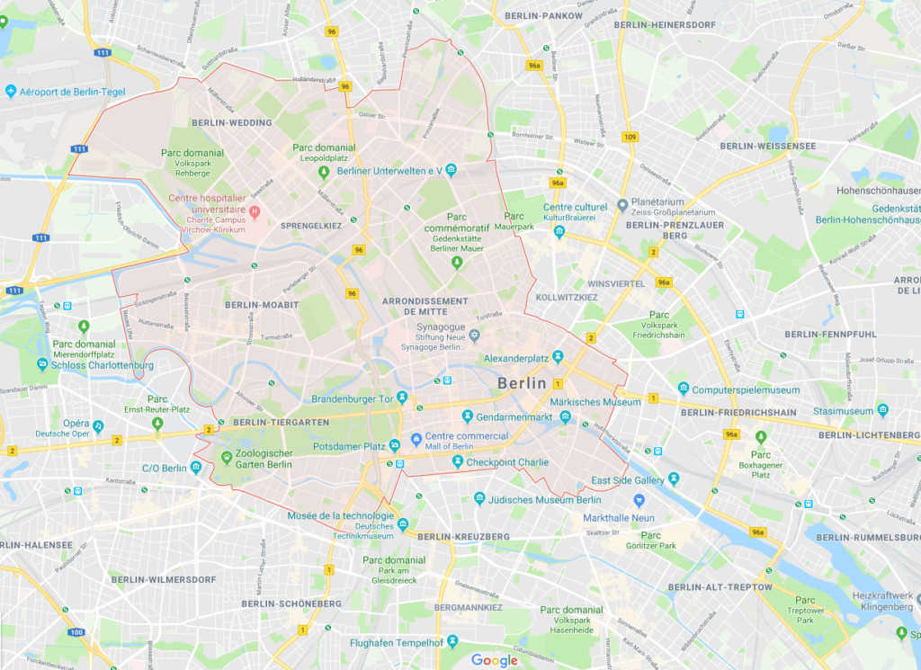 Google map quartier Berlin Mitte