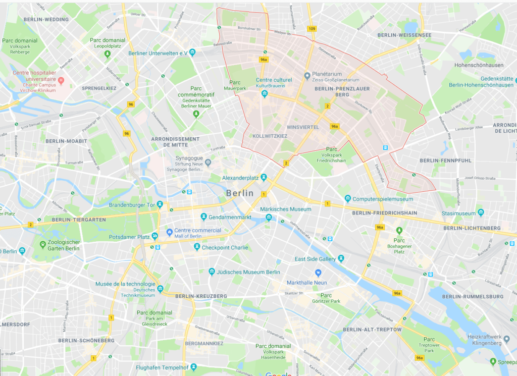 Google map Prenzlauerberg