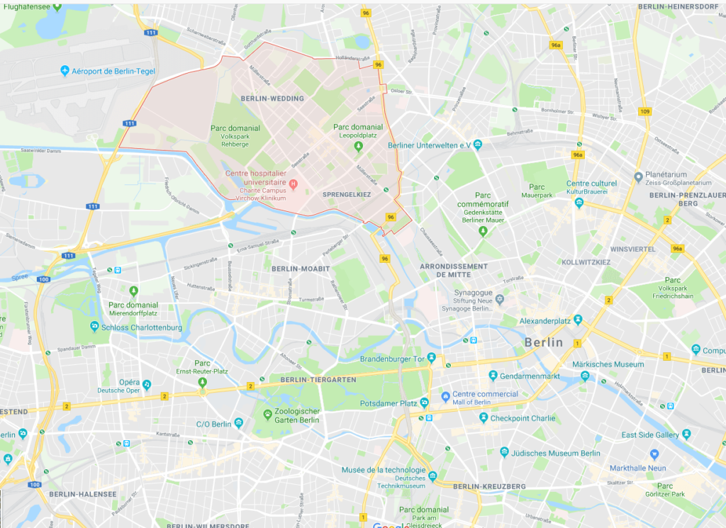 Google maps Wedding Berlin