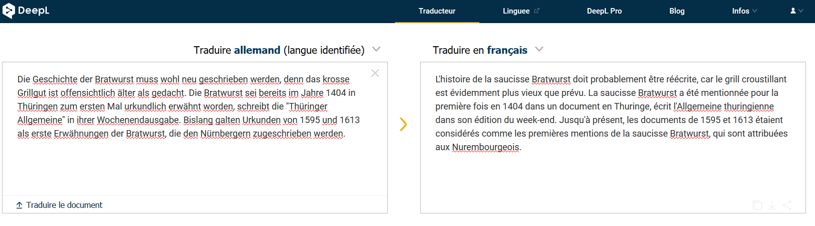 DeepL : le traducteur Allemand-français éfficace