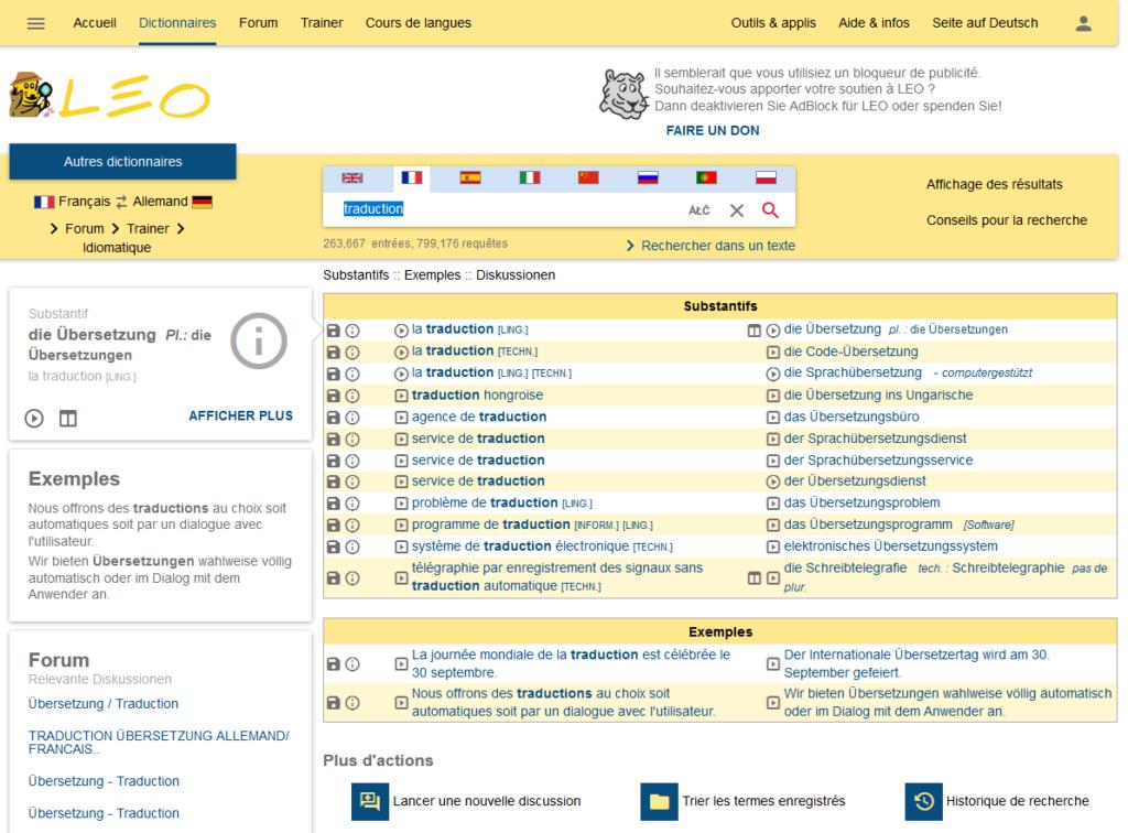Leo.org : le meilleur dictionnaire Allemand-Français