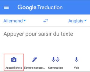 Traduire une image avec Google Traducteur
